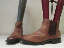 TU LIGHT TAN LEATHER PULL ON CHELSEA STYLE ANKLE BOOTS UK 6 (3326)