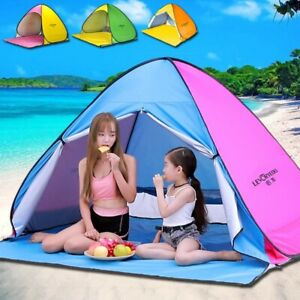 Automatic Sun Shelter Beach Tent Quick easy Pop Up camping hiking UV Protection