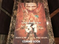31 Rare Cast Signed 1-Sheet Horror Movie Poster Rob Zombie Sheri Malcom McDowell