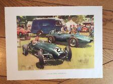 Frank Wootton Lotus and Vanwall Grand Prix Original Print