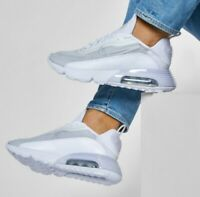 SIZE 15 MEN'S NIKE AIR MAX 2090 WHITE GREY RUNNING SNEAKERS BV9977-100 CASUAL