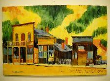 "Carole Palmerston Original Oil on Canvas ""False Front Store"" 36x 24"