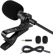 Professional Lavalier Lapel Microphone Condenser Microphone for iPhone Android