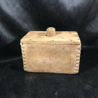 Vintage Wooden Dovetail Butter Mold Press Country Kitchen Cabin Decor