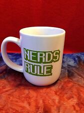 Nerds Rule Video Game Computer Font Gamer Collectible Coffee Mug