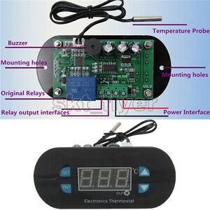 AC/DC12V Digital Thermostat Temperature Alarm Controller Sensor Meter RED LED