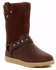 $140 NIB UGG Australia Short Moto Baby Toddler Little Girl Boot Brown Choco Sz 5