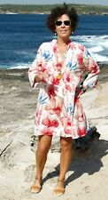 NWT Paper Fig Cotton Red Floral tunic top PLUS SIZE 12,14,16,18,20,22,24,26