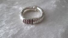 Belle bague multi anneau bijou argent massif + brillants de luxe Links of London