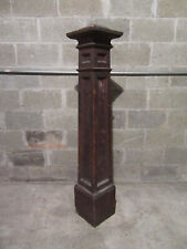 ~ SUBSTANTIAL ANTIQUE OAK NEWEL POST ~ 57.75 TALL ~  ARCHITECTURAL SALVAGE ~