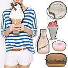 Harajuku Hamburger Doughnut Ice-cream Bag Wallet Mini Purse Zipper Pocket Clutch