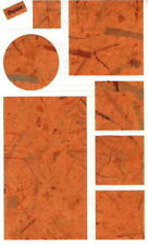 ~ ORANGE Papier Blocks Square Rectangle Circle Grossman Stickers SALE PRICE ~