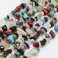 """1 Strand (34"""") Mixed Gemstones Bead Chips 5mm - 9mm (Approx) Stones P00132XB"""
