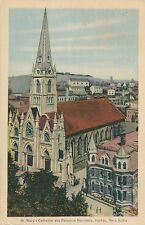 HALIFAX NS – Hand Colored Postcard –St. Mary's Cathedral and Parochial Residence