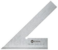 METEHA Anschlagwinkel 45° 200x130mm, Spitzwinkel, 17-04-45-200-130