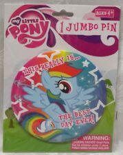 MLP My Little Pony JUMBO PIN Hasbro  Button The Best Day Ever Rainbow Dash Blue
