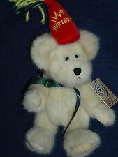 "8.5"" Boyds light colored ""HAPPY BIRTHDAY"" Bear named H.B. BEARWISH w/Tags"