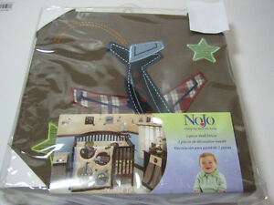 NOJO GOOD TO GO 2PC CANVAS WALL DECOR  CAR AIRPLANE NEW
