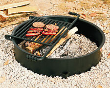 Park Style Backyard Campfire Ring, all Steel, #Fs-30/7/Tb from Pilot Rock