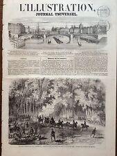 L'ILLUSTRATION 1858 N 820 CHASSE IMPERIALES DE COMPIEGNE RDV AU PUIT DU ROI