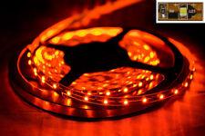 NEU Lichtband Lichterkette mit 300 LEDs 5 Meter flexibel inkl. TRAFO orange