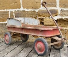 ANTIQUE 1950s MURRAY RADIO CHEIF LARGE STEEL PULL WAGON TO RESTORE