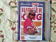 1985 Huntsville Stars Luis Polonia Minor League Card#11