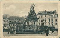 Ansichtskarte Mannheim Denkmal am Marktplatz 1915 (Nr.9111)
