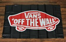 New Vans Off the Wall Banner Flag 3x5 Skateboard Surfing Shoes Garage Store