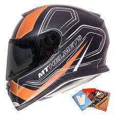 MT Thunder 3 SV Trace Helmet Motorcycle Motorbike Crash Full Face Matt Orange