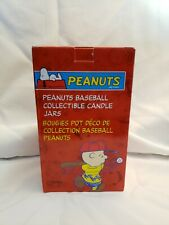 Charlie Brown Peanuts Baseball Collectible Candle Jar Avon Products New in Box
