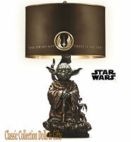 BRADFORD EXCHANGE-STAR WARS™JEDI MASTER YODA TABLE LAMP-OFFICIALLY LICENCED-NEW