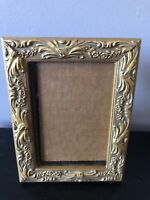 Vintage raised filigree Victorian gold ornate 4x6 picture frame Weston Gallery