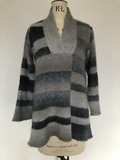 Mini vestido nuevo polo para mujer Damas Capucha Cuello de punto de verificación de tartán Capucha Túnica Top />/>