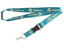 MIAMI DOLPHINS Break Away Clip Lanyard with Double Sided Logo key ring 24 inch