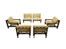 Living Room Set By Carl Straub 1960s Lounge Chair Sessel Leder Leather 60s 60er