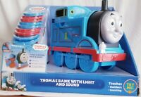 THOMAS & FRIENDS TRAIN BANK LIGHT & SOUND TEACHES NUMBERS  COUNTING, ALPHABET .