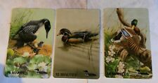 Set.3 phonecards mint. Birds Ducks Chics. Ontario federation. anglers & hunters.