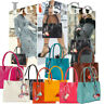 Women Girls Handbags Leather Large Fashion Shoulder Bag Candy Color Flowers