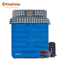 KingCamp Double Sleeping Bag 3-in-1 Airbed Fitted + 2 Pillows Airbed Camping