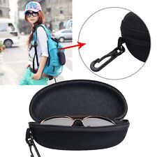 Portable Zipper Sunglasses Box Case Eye Glasses Clam Shell Protector Hard Pouch