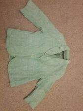 FRENCH CONNECTION LINEN BLAZER JACKET GREEN 12