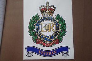 "2 ROYAL ENGINEERS VETERAN  STICKER LARGE 10"" x 8""  BRITISH ARMY MILITARY"