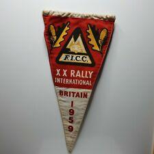 More details for ficc fédération internationale de camping xx rally britain 1959 pennant 12