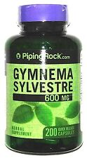 600mg Gymnema Sylvestre Leaf Extract 200 Capsules Blood Sugar Metabolism Support