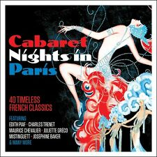 2 CD CABARET NIGHTS IN PARIS TRENET PIAF GRECO CHEVALIER BAKER SAUVAGE SABLON