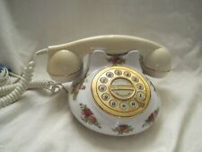 WORKING Retro Vintage STYLE Phone TELEPHONE by ROYAL ALBERT Old Country Roses