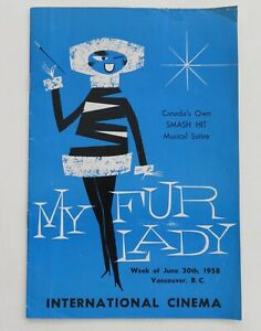 gh29 theatre parody My FUR Lady / musical satire / Vancouver BC program 1958