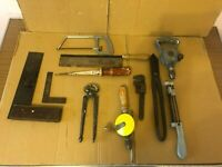 Vintage Collectable Tools, Square, Hand Saw, Leytool Drill, Eclipse 38, Pincers