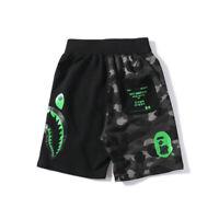 Men's BAPE A Bathing Ape Undefeated Short Pants Camo Green UND Casual Shorts #